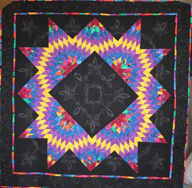 debra linker, quilt, wall hanging, summer star
